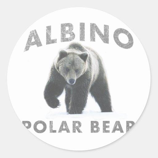 oso polar del albino pegatina redonda