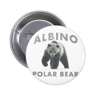 oso polar del albino pin redondo de 2 pulgadas