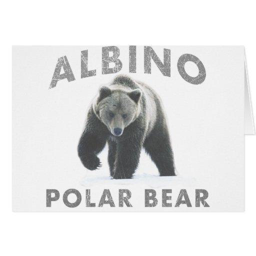 oso polar del albino tarjetón