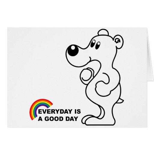Oso polar del arco iris tarjeta de felicitación