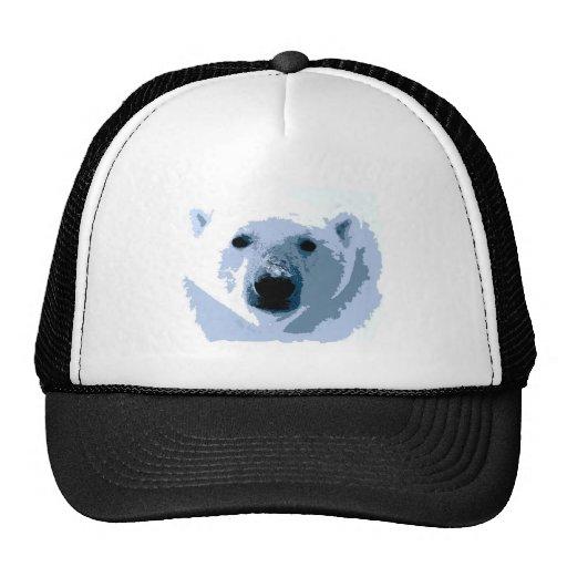 Oso polar del arte pop gorras