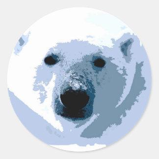 Oso polar del arte pop pegatina redonda