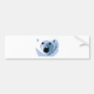 Oso polar del arte pop pegatina para auto