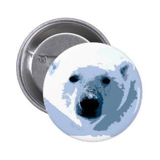 Oso polar del arte pop pin redondo de 2 pulgadas