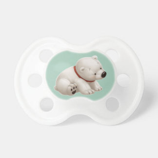 Oso polar del bebé de Сharming pacificador verde Chupete