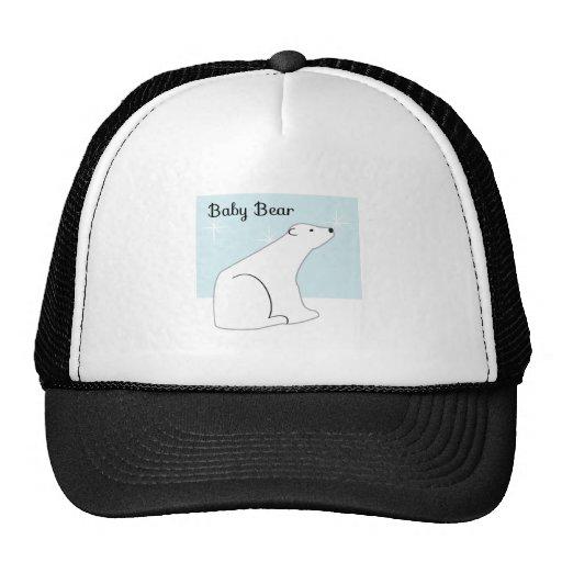 Oso polar del bebé gorros bordados