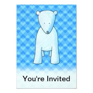 Oso polar del bebé lindo invitacion personal