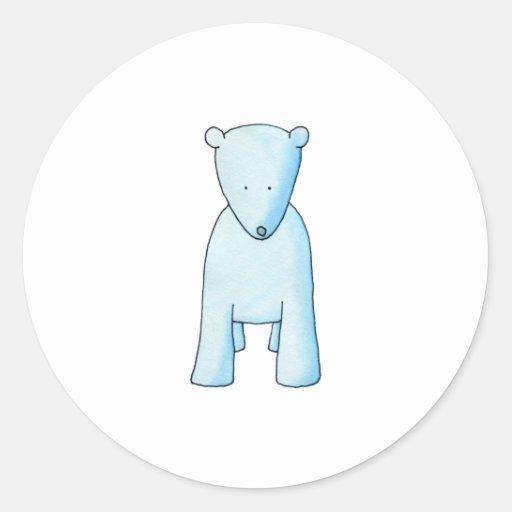 Oso polar del bebé lindo pegatina redonda