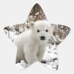Oso polar del bebé pegatina en forma de estrella