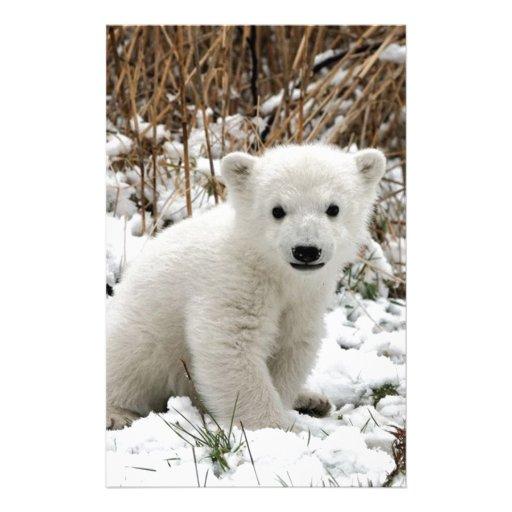 Oso polar del bebé personalized stationery