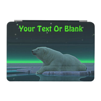 Oso polar del borde del hielo cubierta de iPad mini