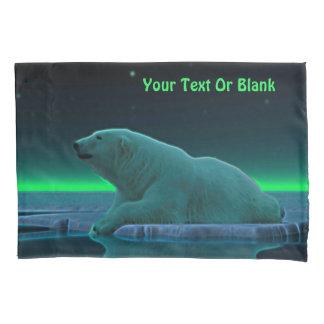 Oso polar del borde del hielo funda de cojín