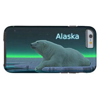 Oso polar del borde del hielo funda de iPhone 6 tough