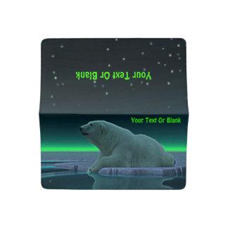 Oso polar del borde del hielo funda para chequera