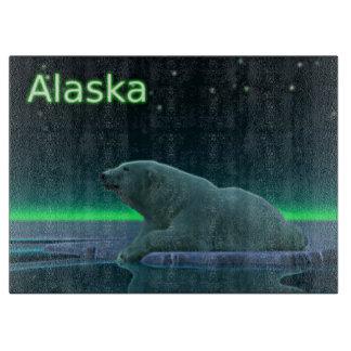 Oso polar del borde del hielo tabla para cortar