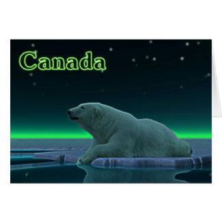 Oso polar del borde del hielo tarjeta de felicitación