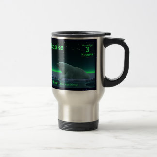 Oso polar del borde del hielo tazas de café