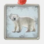 oso polar del copo de nieve ornamentos de navidad