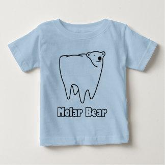 Oso polar del diente del oso molar playera de bebé
