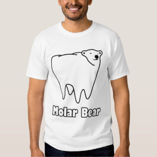 Oso polar del diente del oso molar remera
