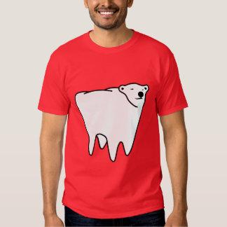Oso polar del diente del oso molar remeras