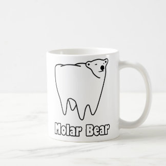Oso polar del diente del oso molar tazas de café