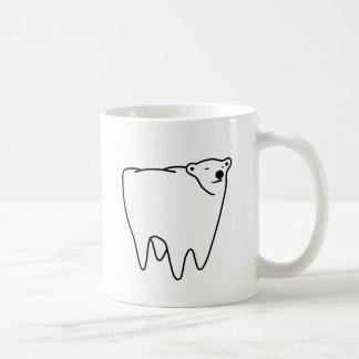 Oso polar del diente del oso molar tazas