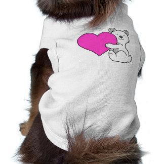 Oso polar del el día de San Valentín con el Playera Sin Mangas Para Perro