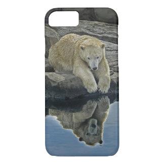 Oso polar del espejo del espejo funda iPhone 7