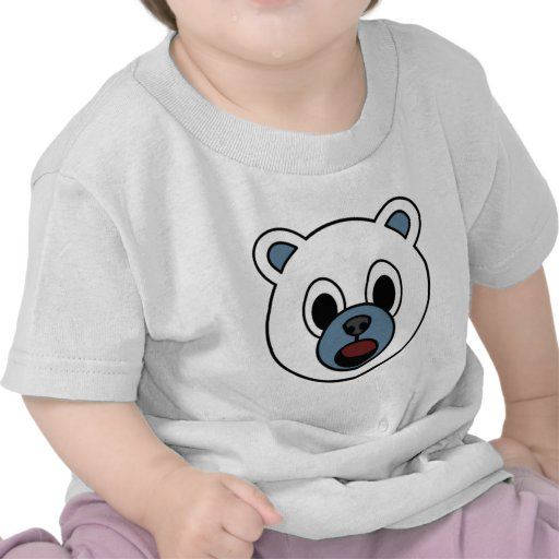 Oso polar del muchacho camiseta