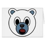 Oso polar del muchacho tarjetón