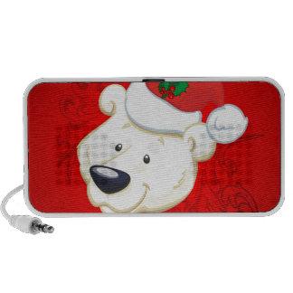Oso polar del navidad altavoz de viajar