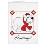 Oso polar del navidad felicitación