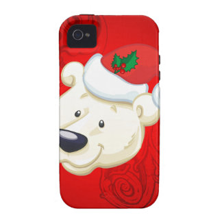 Oso polar del navidad Case-Mate iPhone 4 carcasa