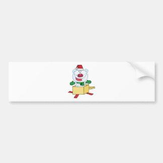 Oso polar del navidad haciendo estallar fuera de u pegatina para auto