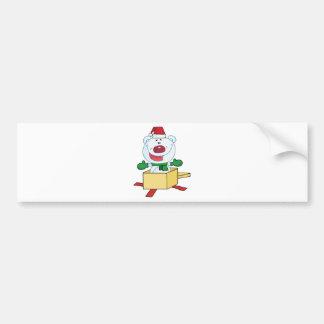 Oso polar del navidad pegatina para auto