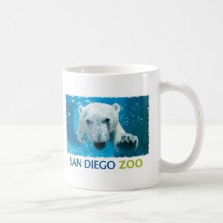 Oso polar del parque zoológico de San Diego Taza