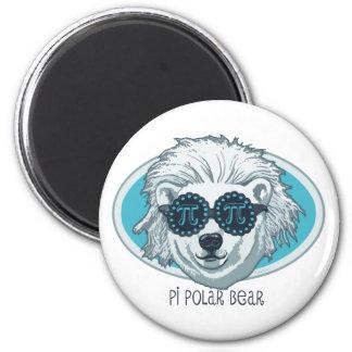 Oso polar del pi imán redondo 5 cm