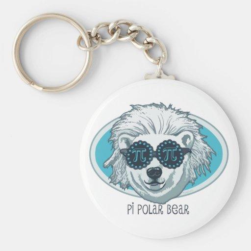Oso polar del pi llaveros personalizados