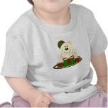 Oso polar del regalo de Navidad de Cutelyn Camiseta