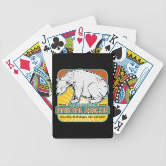 Oso polar del rescate animal barajas de cartas
