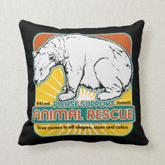 Oso polar del rescate animal almohadas
