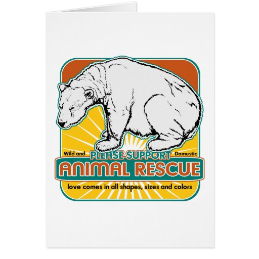 Oso polar del rescate animal tarjetas