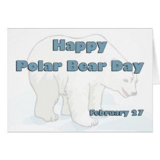Oso polar día 27 de febrero tarjeta de felicitación