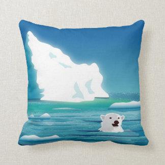 Oso polar e hielo cojín