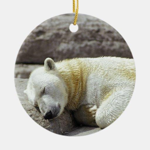 Oso polar el dormir adorno