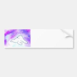 ¡Oso polar en la nieve! (Arte de K.Turnbull) Pegatina De Parachoque
