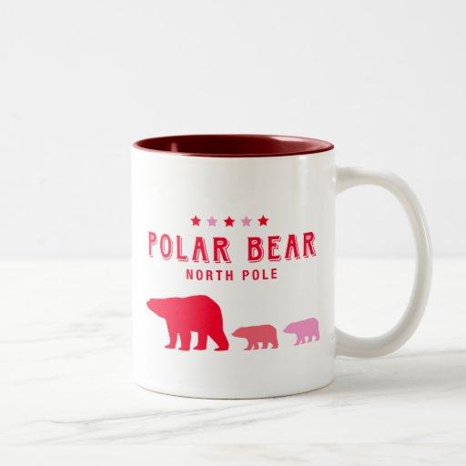 Oso polar en Polo Norte Tazas