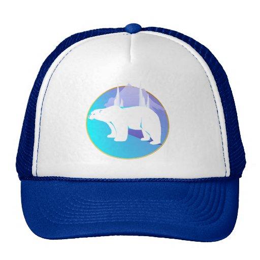 Oso polar en un gorra del círculo