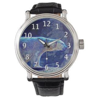 Oso polar estilizado reloj